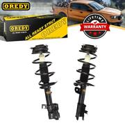 For Nissan Rogue 08-11 Front Pair Left Right Kit Struts Coil Spring Assembly
