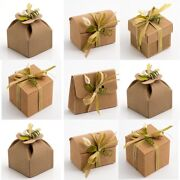 Corrugated Kraft Natural Wedding Party Favour Gift Boxes Shabby Chic