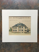 School House, Melrose, Ma, 1892, Loring And Phipps, Hand Colored Original
