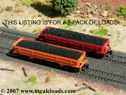 Hay Bros Coal Loads 3-pk - Fits N-scale Atlas And Walthers Difco Side-dump Cars