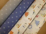 Anchor And Nautical - Fryetts Cotton Print Fabric Five Colours