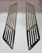 Bertram Yachts Polished 316 Stainless Steel Exhaust Grills Stb/port
