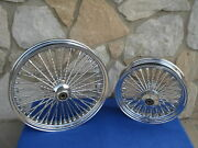 21x3.5 And 16x3.5 2012-up Abs Dna Mammoth 52 Diamond Spoke Wheel Set Harley Deluxe