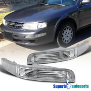For 1995-1999 Nissan Maxima Parking Signal Bumper Lights Left+right