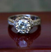 2.55 Ct Forever One Moissanite Round Micro Pave Wrap Engagement Ring