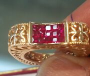 14k Designer Handmade 1.60 Carat Natural Burma Ruby Ring. Truly One Of A Kind.