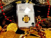 Spain 2 Escudos 1619 Full Date Ngc 45 Pirate Gold Coins Treasure Doubloon Cob