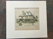 School House, Melrose, Ma, 1892, Loring And Phipps, Original Hand Colored