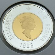 1998 Proof Canada 2 Two Dollar Toonie Canadian Uncirculated Coin G514