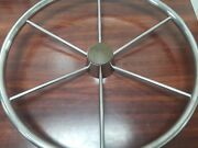 Helm Wheel 18 Stainless Steel 6 Spokes Round W/ Center Cap