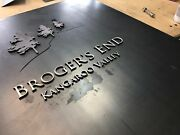 Corten And Stainless Steel House Mailbox Sign Rustic Look Unique Laser Cut