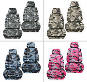 Front Car Seat Covers Urban Camouflage Tan/brown/blue Fits Grand Cherokee 05-18