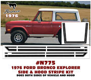 N775 1976 Ford Bronco Explorer - Side And Hood Stripe Kit - Factory Reproduction