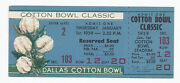 1959 Cotton Bowl Game Full Unused Ticket Air Force Texas Christian