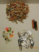 Huge Lot Of Golf Tees Markers And Pencils