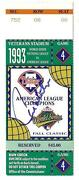 1993 World Series Game 4 Ticket Stub Signed By Mvp Paul Molitor