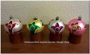 Vintage Glass Christmas Ornaments Nos With Box. German Poland Hand Made 12