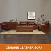 Marquesslife Handmade Antique Couch Set Sofa 100 Genuine Leather And Coffee Table