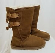Ugg Australia Women's Everleigh Lace Up Suede Boots Shoes Brown Size 7 250