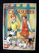 Barbara Spurr 1930's Childrens Book Cover Painting Our Treasures