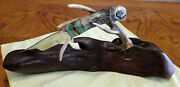 John E Toner Continental Divide Knife Rare With Ironwood Base Collector Quality