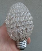 Antique Beaded French Lamp Bulb Shade Part Nouveau Figurine Newel Post Vintage