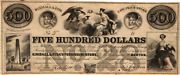 A Neat 500.00 Kimball And Fisk Boston Massachusetts Obsolete Ad Note - Vf/xf
