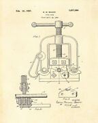 Decoration Poster Print.vintage Patent.pipe Vise.room Interior Wall.6742