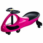 Twisting Swivel Hot Pink Wiggle Car Roller Coaster Ride On Toy Energy Operated
