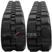 Two Rubber Tracks For Jcb T180 T190 450x86x52 Block Tread Free Shipping