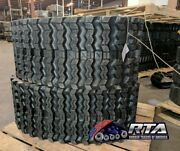 Two Rubber Tracks For Jcb T180 T190 450x86x52 Zig Zag Tread Free Shipping