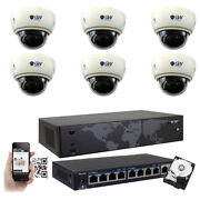 8ch Nvr 6 4k 8mp Motorized Zoom Microphone Ip Poe Dome Security Camera System