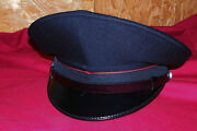 Wwii German Look Black Military Italian Army Officers Hat Cap Us Size Large L 59