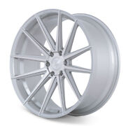 22 Ferrada Ft1 Silver Concave Wheels Rims Fits Ford F-150 - Set Of 4