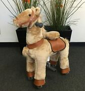 Small Giddy Up Ride Horse/pony Ride On Beige Ages 2-5 Boys And Girls 01g