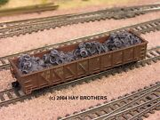 Hay Brothers Scrap Automobile Tires Load - Fits Walthers 40and039 Composite Gondolas