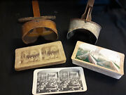 Old Vtg Antique Stereo Viewer Saturn Scope Stereoscope Pictures
