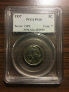 1937 Buffalo Nickel 5c Pcgs Proof Pr 66 Type 2 Five Cents In Recess Low Mintage