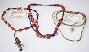 3x Chinese Mixed Bead Necklaces W. Jade, Coral And Silver By Yasue Yamada Yam8