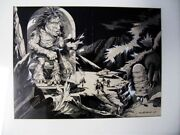 Mullholland Interior Super Science Magazine Painting June 1945 Lord Of Death