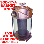 Groco Ssd-17-a Filter Basket 4.8x12 S.steel For Sd-2500-s Water Strainer Boat Md