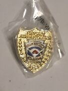 Little League Baseball District Administrator Pin - New In Plastic - Gold Shield