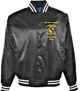 1st Cavalry Division Fort Hood-tx First Team Embroidered 1-sided Satin Jacket