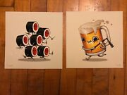 Mike Mitchell Food Dudes Two-handed Flail Poison Daggers Beer Sushi Prints Jlu