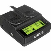 Watson Duo Lcd Charger With Two Np-w126 Plates Includes Power Cord And Car Charger
