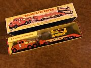Vintage Matchbox King   Mib   Scammell Heavy Duty Mover And Caterpillar Tractor