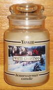 Yankee Candle - 22 Oz - White Christmas - Black Band - Very Rare Label