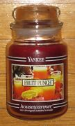 Yankee Candle - Fruit Punch - 22 Oz - Black Band - Very Rare And Hard To Find