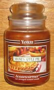 Yankee Candle - Momand039s Apple Pie - 22 Oz - Black Band - Hard To Find