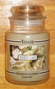 Yankee Candle - 22 Oz - White Lace - Black Band - Very Rare And Hard To Find